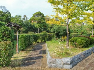 In the southern part of the park is a Japanese garden