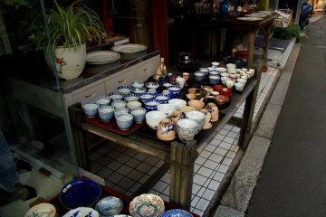 <p>Even though this street offers mostly modern furniture, tradition in Japan is never lacking</p>