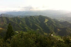Вид из горного лагеря