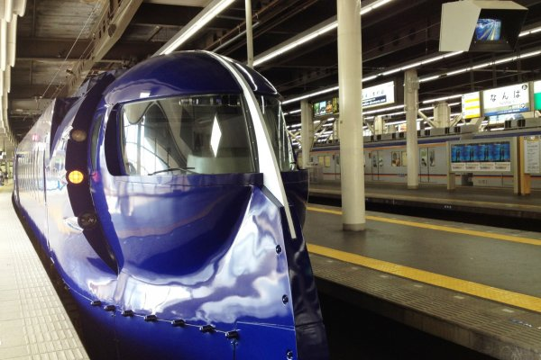 Nankai Railway's limited express Rapit is the fastest way from Kansai Airport to Namba in downtown Osaka.