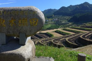Fine porcelain is made here at Onigi Tanada, one of the top 100 terraced rice fields in Japan