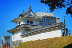 Before there were higher buildings around, you could see Mount Fuji from one of the turrets