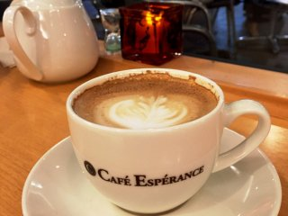 "Cappuccino in Cafe Esperance kind of seems like a ""B"""