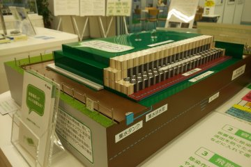 <p>A model shows how radioactive waste materials are stored underground</p>