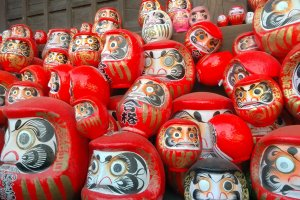 The Daruma dolls look alike. But they are all different and unique, especially when they contain special wishes from each worshipper