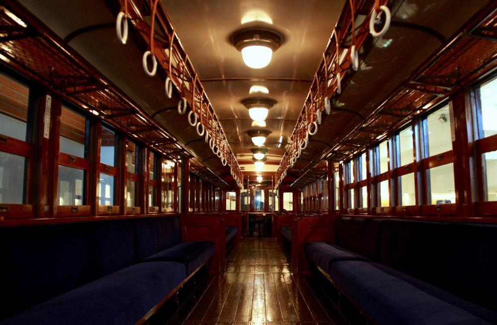 A beautiful interior of an electric train built in 1924