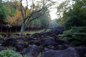 <p>The Nabekura-kei&#39;s rock river</p>