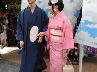 Un joli couple en kimono