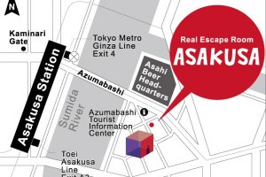 Map of Real Escape Room Asakusa.