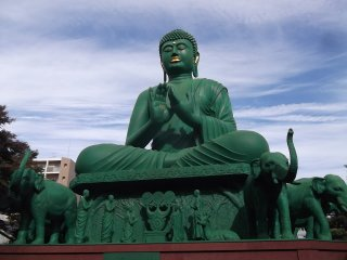 Медитирующий на открытом воздухе