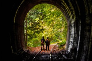 Whilst it is possible to walk through this tunnel, expect to get a little wet as it is constantly dripping with water!