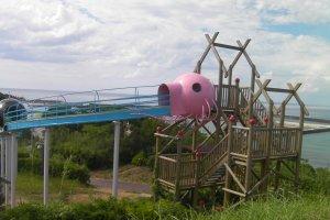 Slide overlooking the Japan Sea