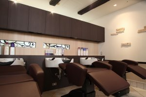 The salon prides itself on its comfortable surroundings