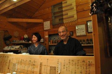 Proprietors and chefs Midori and Rai