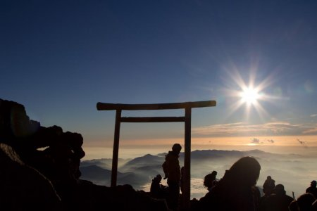 Sunrise on the Top of Mount Fuji