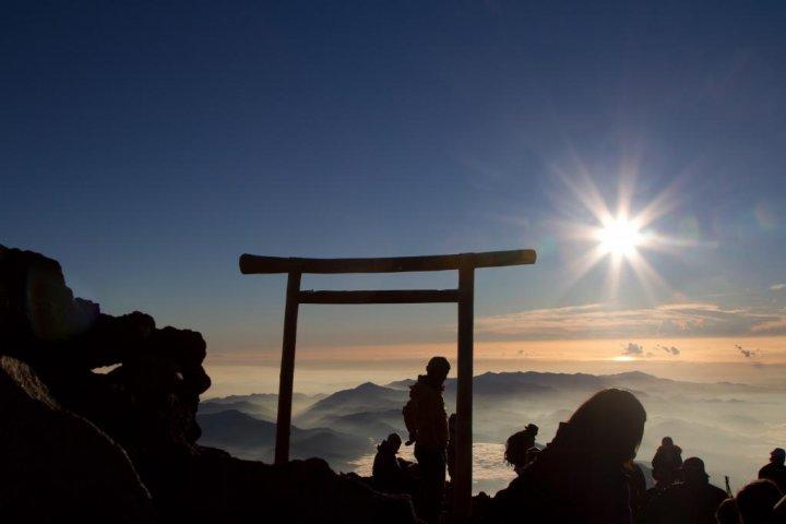 Sunrise on the Top of Mount Fuji