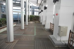 One of the Panarama Terraces on the 31st floor