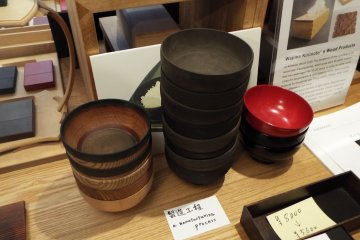 Wajima Kirimoto before and after bowls