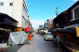 Wajima Morning Market before opening