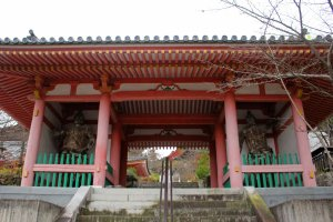 The Niomon Gate, entrance to the inner grounds. It was build in 1212.