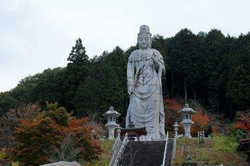 <p>The 20m tall standing Buddha statue.</p>
