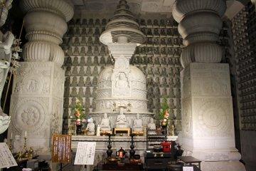 <p>Inside the stone hall.</p>