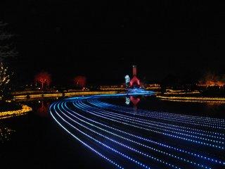 Lễ hội ánh sáng mùa đông ở hồ nước