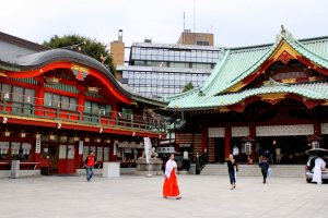 Inside the grounds of Kanda Myojin