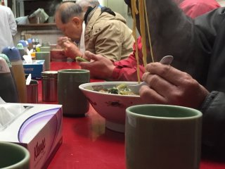 Most customers go for the ramen on a cold winter's day