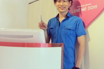 Kanji Tanaka, one of the leading stylists at Love Me Do.