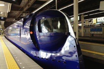 The futuristicNankai Rapit airport express train at Namba, Osaka.