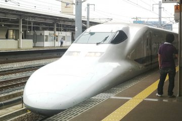 <p>Shinkansen or bullet train</p>
