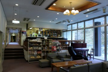 <p>The lobby and cafe and sitting area</p>
