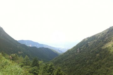 Looking down on Nakatsugawa from the road