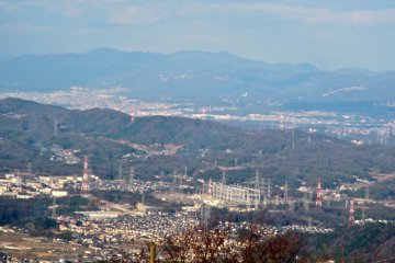 <p>Looking north east into southern Kyoto</p>