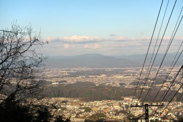 <p>The Yamato Valley from the cable car</p>