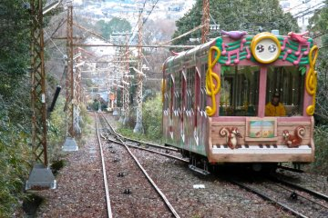 <p>Passing the second cable car on the way down</p>