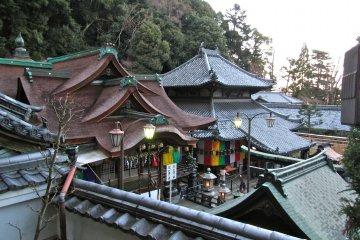 Hozanji Temple in Nara's Ikoma City