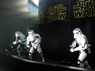 Life size stormtrooper exhibit