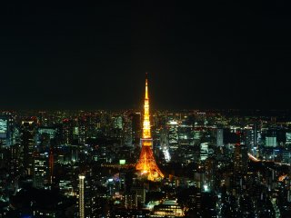 View of Tokyo Tower from the Mori Tower