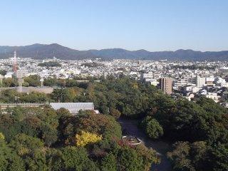 วิวที่มองไปยังสวนสาธารณะและหอศิลปะ