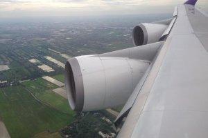 ระหว่างที่เครื่องเตรียมLandingลงสู่สนามบินสุวรรณภูมิ