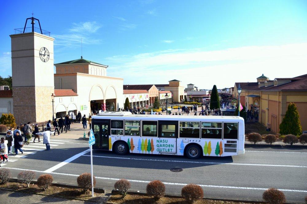나스시오바라 역에서 무료 셔틀 버스가 운행하고 있다