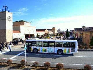 那須塩原駅から無料シャトルバスが運行している
