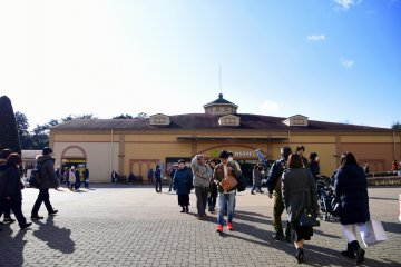 <p>During the New Year Holiday the outlet mall was bustling with families with kids</p>