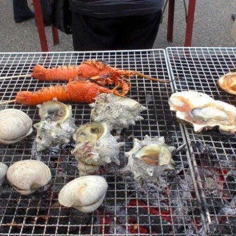 Chợ hải sản ở cảng Ohara