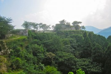 The hon maru, tower foundation and Take no Mon Gate from the san no maru