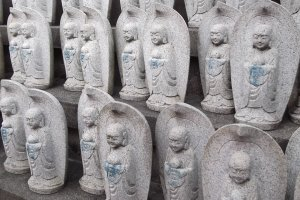 Statues at one of the town's Buddhist temples
