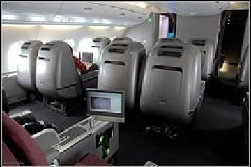 <p>Business Class seats in the main cabin in A380 configuration</p>