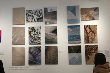 <p>Inside the exhibit hall at 21_21 Design Sight.</p>